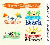 summer labels  logos ... | Shutterstock .eps vector #1124252054