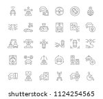 collection of line gray icons... | Shutterstock .eps vector #1124254565