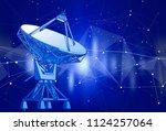 satellite dishes antenna  ... | Shutterstock .eps vector #1124257064