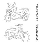 motorcycle icon and... | Shutterstock .eps vector #1124268467