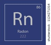 radon rn chemical element icon  ... | Shutterstock .eps vector #1124271314