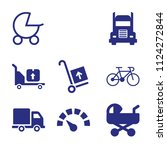set of 9 transport filled icons ... | Shutterstock .eps vector #1124272844