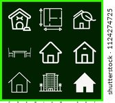 set of 9 home outline icons...   Shutterstock .eps vector #1124274725