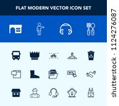 modern  simple vector icon set... | Shutterstock .eps vector #1124276087