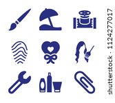 set of 9 other filled icons... | Shutterstock .eps vector #1124277017