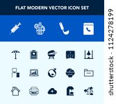 modern  simple vector icon set... | Shutterstock .eps vector #1124278199