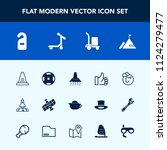 modern  simple vector icon set... | Shutterstock .eps vector #1124279477