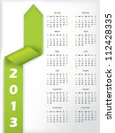 2013 Calendar With Arrow Shape...