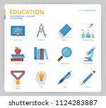 education icon set | Shutterstock .eps vector #1124283887