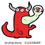 gross monster cartoon character   Shutterstock . vector #112428689
