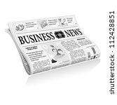 folded newspaper business news...   Shutterstock .eps vector #112428851