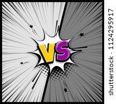 pop art monochrome manga... | Shutterstock .eps vector #1124295917