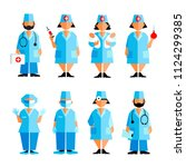 set of medical characters...   Shutterstock .eps vector #1124299385