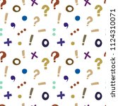 bright pattern of punctuation... | Shutterstock .eps vector #1124310071