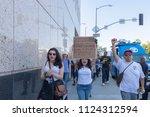 los angeles  june 30  2018  an... | Shutterstock . vector #1124312594