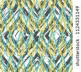 grunge textured rhombs seamless ... | Shutterstock .eps vector #1124331149