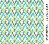 grunge textured rhombs seamless ... | Shutterstock .eps vector #1124331155