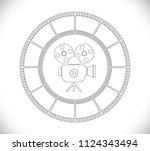 outline camera icon in film... | Shutterstock .eps vector #1124343494