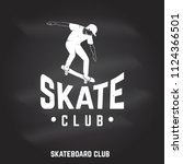 skate club sign on the... | Shutterstock .eps vector #1124366501