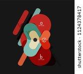 flat design geometric... | Shutterstock .eps vector #1124378417