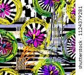 seamless geometric pattern...   Shutterstock .eps vector #1124379281