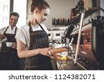 cafe business  professional... | Shutterstock . vector #1124382071