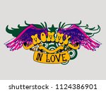 tatoo mommy in love wings icon... | Shutterstock .eps vector #1124386901