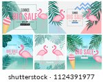 abstract summer sale background ... | Shutterstock .eps vector #1124391977
