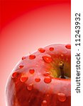 juicy apple with dewdrop on red ... | Shutterstock . vector #11243932