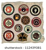 collection of vintage retro... | Shutterstock .eps vector #112439381