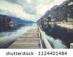 riva del garda. italian... | Shutterstock . vector #1124401484