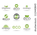 ecology icon set. eco icons.... | Shutterstock .eps vector #112440845