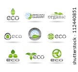 ecology icon set. eco icons.... | Shutterstock .eps vector #112440851