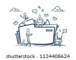 cloud data storage folder file... | Shutterstock .eps vector #1124408624