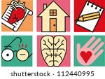 set of square icons related to... | Shutterstock .eps vector #112440995