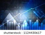 2d rendering stock market... | Shutterstock . vector #1124430617