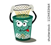 garbage containers for the... | Shutterstock .eps vector #1124433464