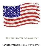 american grunge flag.vector... | Shutterstock .eps vector #1124441591