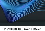 abstract 3d rendering of smooth ... | Shutterstock . vector #1124448227
