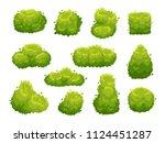 garden bush. green garden... | Shutterstock .eps vector #1124451287