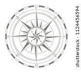 vector icon with compass rose | Shutterstock .eps vector #1124456594