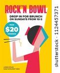 brunch or buffet promotion...   Shutterstock .eps vector #1124457371