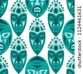 seamless background. african... | Shutterstock .eps vector #1124461631