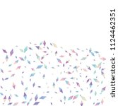 confetti of two colored rhombs... | Shutterstock .eps vector #1124462351