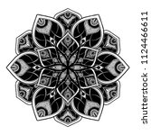 mandalas for coloring  book.... | Shutterstock .eps vector #1124466611