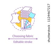 choosing fabric concept icon.... | Shutterstock .eps vector #1124467217
