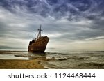 Old Ship Wrecked On The Greek...