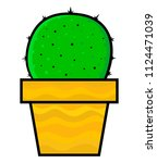cactus on a white background.... | Shutterstock .eps vector #1124471039