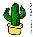 cactus on a white background.... | Shutterstock .eps vector #1124471045