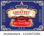 circus carnival fairground... | Shutterstock .eps vector #1124472281
